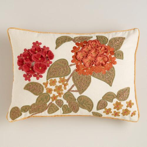 Warm Floral Lumbar Pillow