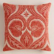 Rust Art Nouveau Throw Pillow