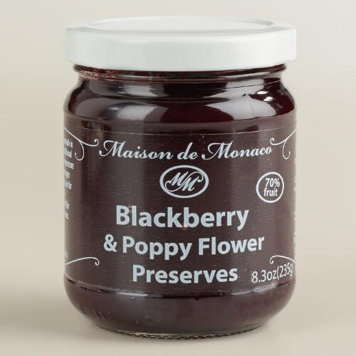 Maison De Monaco Blackberry and Poppy Flower Preserves