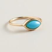 Gold Turquoise Midi Ring