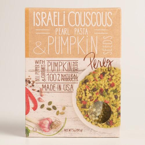 Pereg Couscous Pearl Pasta with Pumpkin Seeds, Set of 2