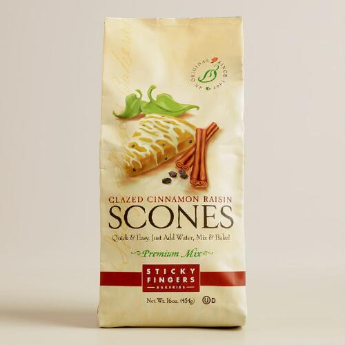 Sticky Fingers Bakeries Vanilla Cinn-Raisin Scone, Set of 6