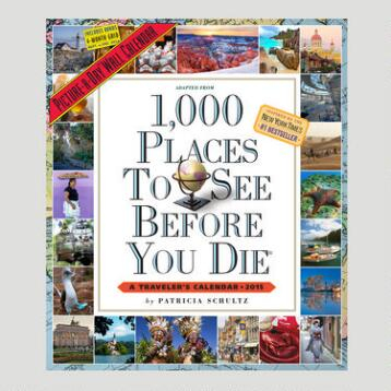 1000 Places to See Before You Die 12-Month Wall Calendar