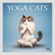 Yoga Cats 12-Month Wall Calendar