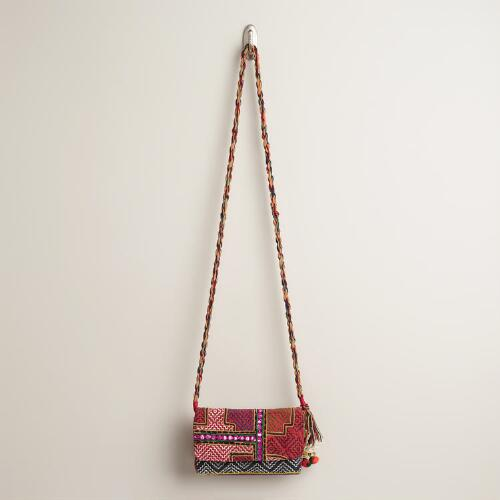 Small Geo Stich Mirror Cross-Body Bag