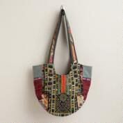 Multicolored Antique Patchwork Tote Bag