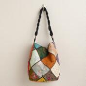 Sari Patchwork Oversized Bag