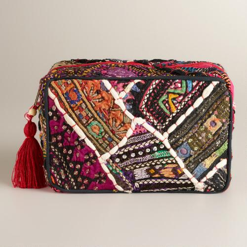 Sari Patchwork Cosmetic Pouch