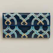 Blue Leather Tile Wallet