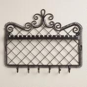 Bronze Wall Jewelry Holder with Hooks
