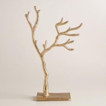 Small Gold Tree Jewelry Stand