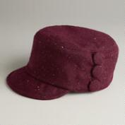 Wine Cap with Buttons Hat