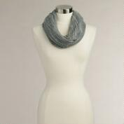 Black and White Infinity Scarf with Lurex
