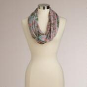 Pink and Blue Abstract Infinity Scarf