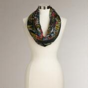 Large Green Floral Infinity Scarf
