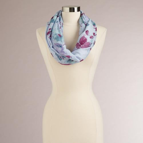 Lavender Floral Infinity Scarf
