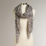 Taupe Stars Scarf