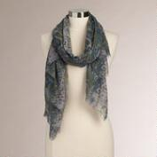 Lavender and Gray Snake Print Scarf