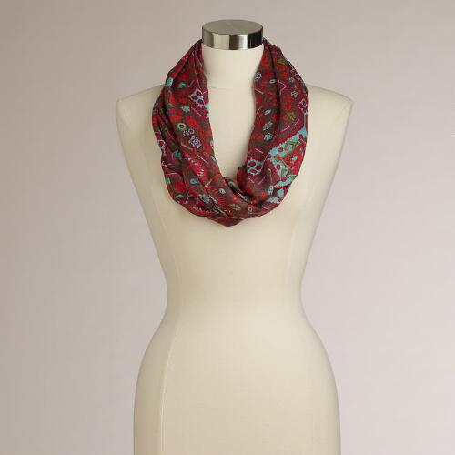Red Diamond Infinity Scarf