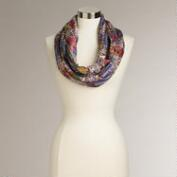 Lavender and Coral Sea Life Infinity Scarf