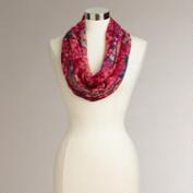 Red Geo Diamond Infinity Scarf