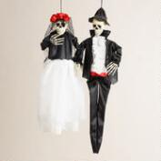 Bride and Groom Skeleton Figures, Set of 2