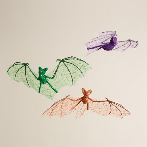 Hanging Fabric Bats, Set of 3