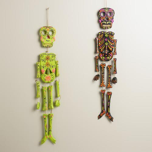 Wall Decor Sets Of 2 : Neon wooden skeleton wall decor set of world market