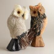 Halloween Natural Fiber Owls, Set of 2