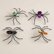 Jeweled Spiders, Set of 4