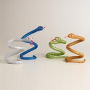 Glittered Snakes, Set of 4