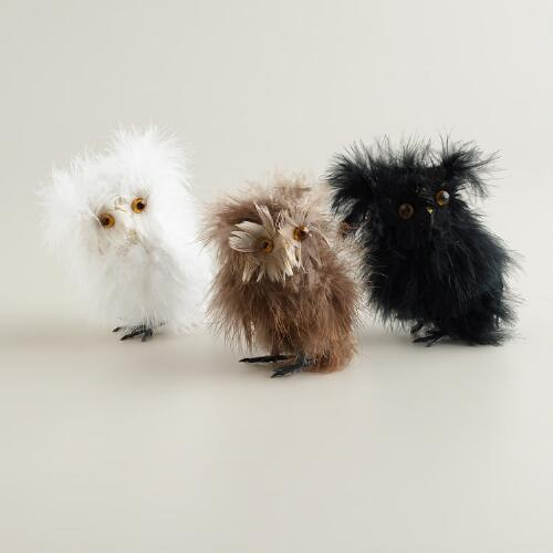 Fluffy Owls, Set of 3