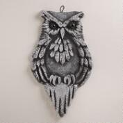 Large Glitter  Owl Wall Decor