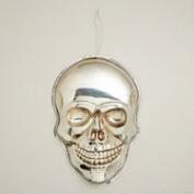 Large Silver Skull  Wall Decor
