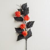 Orange Lantern Stems, Set of 2
