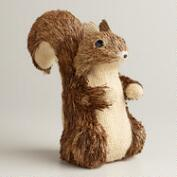 Natural Fiber Burlap Squirrel