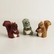 Mini Natural Fiber Squirrels, Set of 3