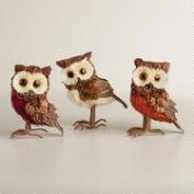 Mini Owls, Set of 3