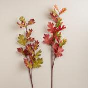 Oak Leaf Stems, Set of 2