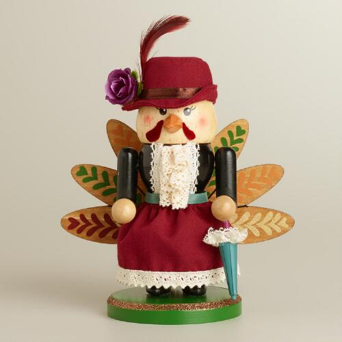 Mrs. Turkey Wooden Nutcracker