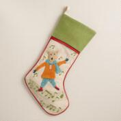 Music Note Fox Stocking