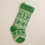 Green Swiss Miss Knit Stocking
