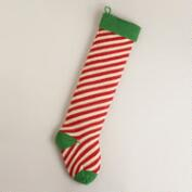 Candy Cane Oversized Knit Stocking