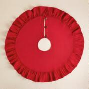 Red Ruffled Bori Tree Skirt