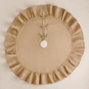 Natural Ruffled Burlap  Tree Skirt
