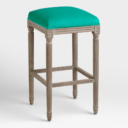 Emerald Paige Backless Barstool