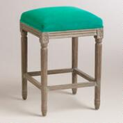 Emerald Paige Backless Counter Stool