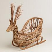 Natural Fiber Deer Basket
