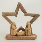 Driftwood Star Nativity Scene,  4-Piece