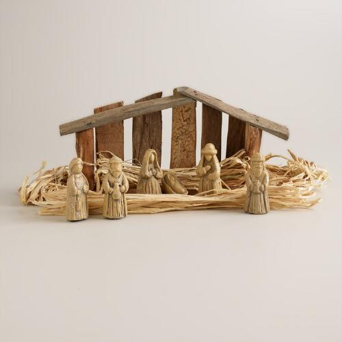 Small Driftwood Nativity Scene